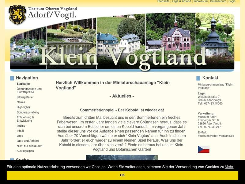 Screenshot von https://www.klein-vogtland.de